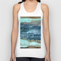 agate Tank Tops featuring Navy Agate by Amie Amyotte