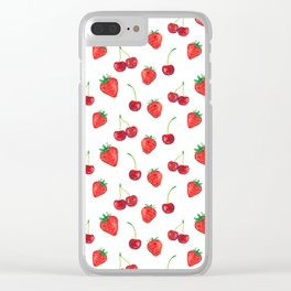 Watercolor Berries II Clear iPhone Case