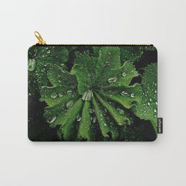 Dew On Rose Scented Geranium Leaves Carry-All Pouch