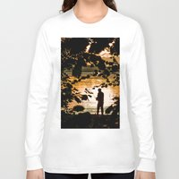 fishing Long Sleeve T-shirts featuring Fishing by Svetlana Korneliuk