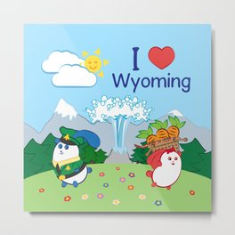 Ernest and Coraline | I love Wyoming Metal Print