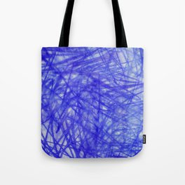 Ophelia Blue Scribble Tote Bag