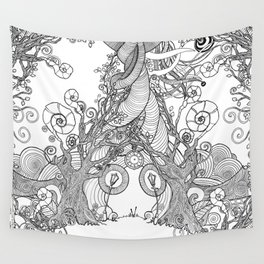 TIME STANDS STILL (travel mugs, blankets, tapestries) Wall Tapestry