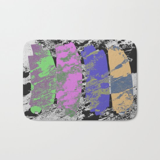 All 4 One - Abstract, textured artwork Bath Mat