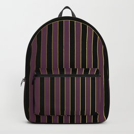 Black Gold and Purple Queen Elizabeth the Second Royal Stripes Backpack
