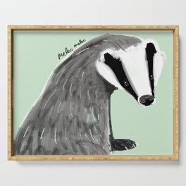 Adorable Badger ( Meles meles ) Serving Tray