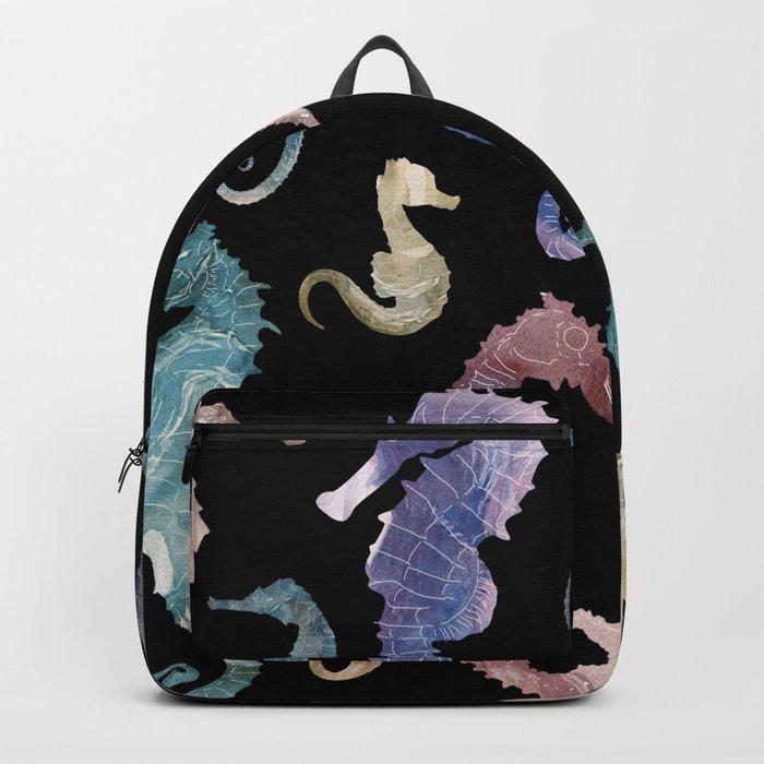 Seahorses at night Backpack