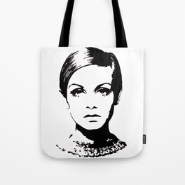 Twiggy Style Modern At Tote Bag
