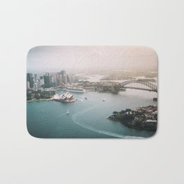 Sydney Opera House Harbour Bridge | Australia Aerial Travel Photography Bath Mat
