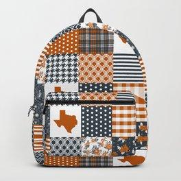 Texas longhorns university quilt pattern gifts sports fan varsity football fan Backpack