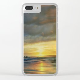 Captivating Sunset Over The Harbor Clear iPhone Case