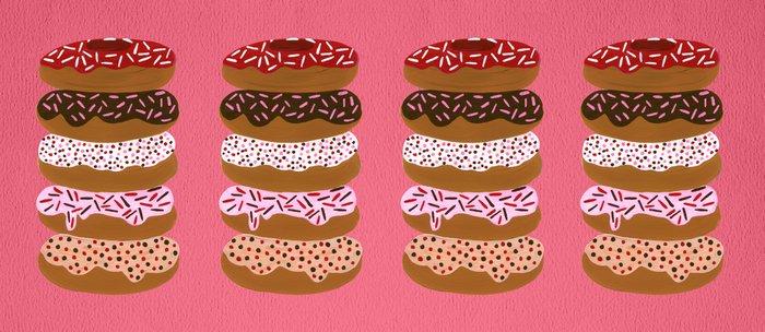 Stacked Donuts on Cherry Coffee Mug