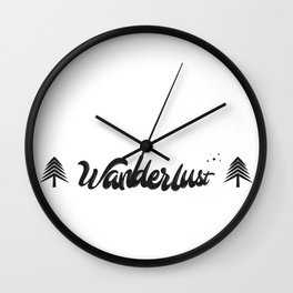 Wanderlust Artwork Wall Clock