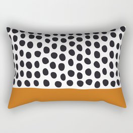 Classy Handpainted Polka Dots with Autumn Maple Rectangular Pillow