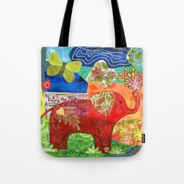 Contemplate with the Heart Tote Bag