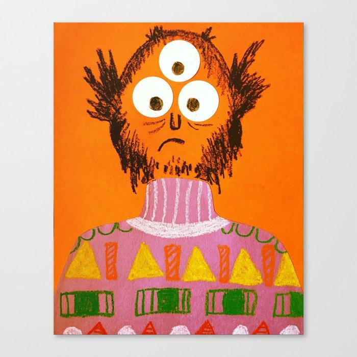 Shape Sweater Monster Canvas Print