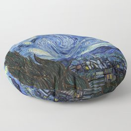 Vincent van Gogh Iconic Starry Night Floor Pillow