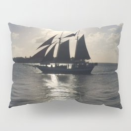 Pirate Sunset over Key West Pillow Sham