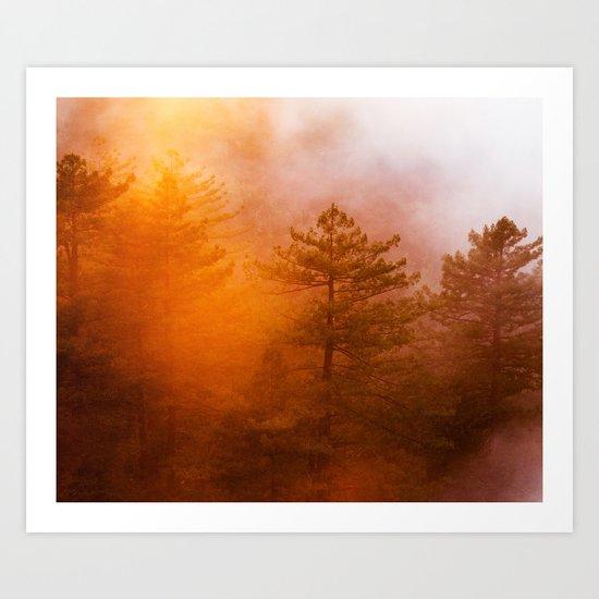 Sunrise Hug Art Print