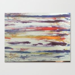 Art based in stripes and colors Canvas Print