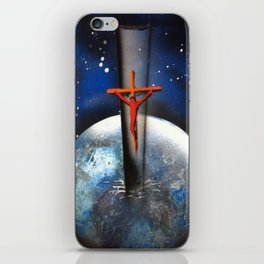 Saving the World Cross Spray Paint iPhone Skin