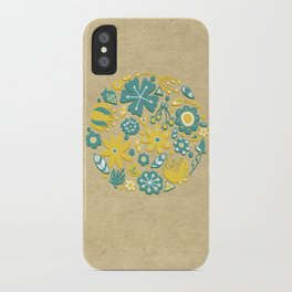 Little Flower Circle iPhone Case