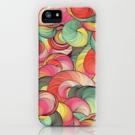 Graphic design seven by Leslie Harlow iPhone Case