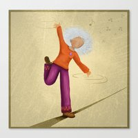 dancing Canvas Prints featuring Dancing by Nadia Engelhard