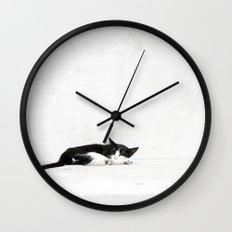 Black on White Wall Clock