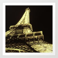 eiffel@night Art Print