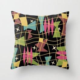 Mid Century Modern Abstract Pattern 583 Throw Pillow