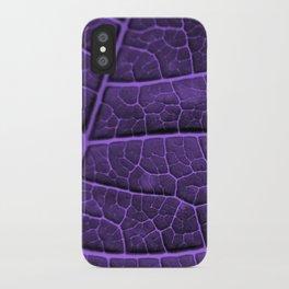 LEAF STRUCTURE ULTRAVIOLET no3 iPhone Case