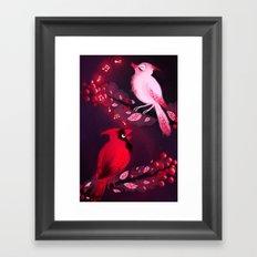 Cardinal Song Framed Art Print