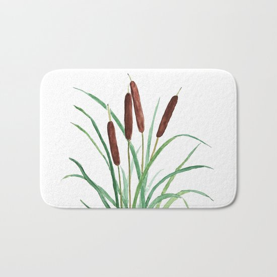 cattails plant Bath Mat