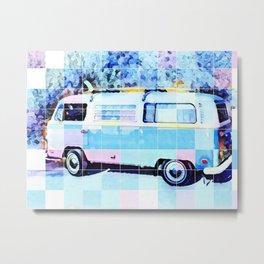 The Magic Surf Bus Metal Print