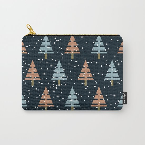 Winter. Christmas tree . Carry-All Pouch