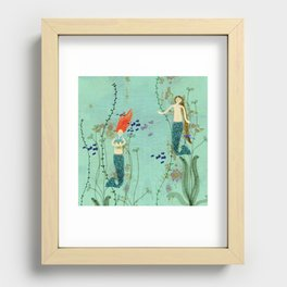 Where Mermaids Come From by Sarah Kiser Recessed Framed Print