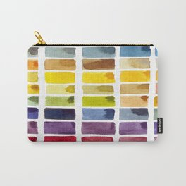 Watercolor Rainbow Tile Carry-All Pouch