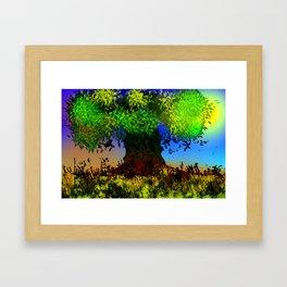 Tree and Leaves Framed Art Print