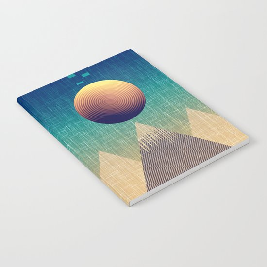 Moonrise Abstract Notebook