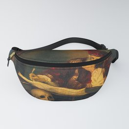 A man supposed to be Nicholas Alcocke, surgeon to King Edward VI. Oil painting 1485-1714 Fanny Pack