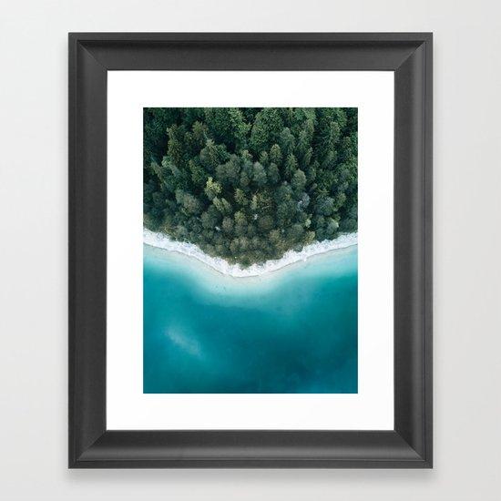 green and blue symmetry landscape photography framed art. Black Bedroom Furniture Sets. Home Design Ideas