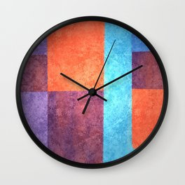 Abstract Geometric Space 1 Wall Clock