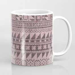 triangle kilim in pale pink Coffee Mug