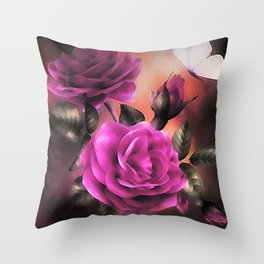 FRAGRANCE OF A ROSE Throw Pillow