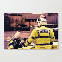 police Canvas Prints featuring Police by Julian Bailey
