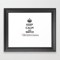 Keep Calm And Watch The Vampire Diaries Framed Art Print