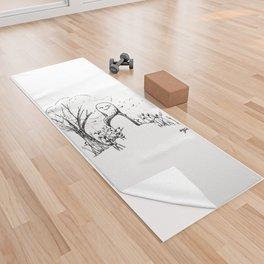A Windy Day Yoga Towel