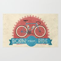 brompton Area & Throw Rugs featuring Born to Ride by Wyatt Design