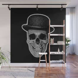 skull with bowler hat Wall Mural